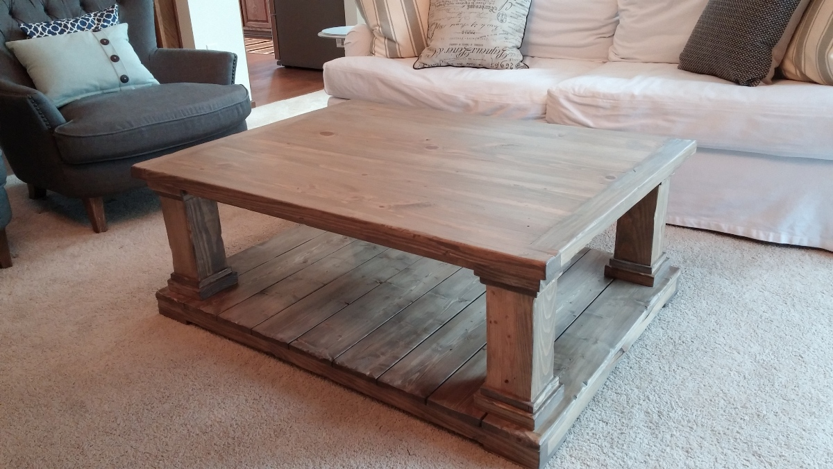Wooden Farmhouse Coffee Table